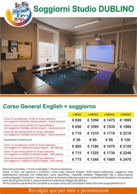 Soggiorno studio Dublino 2021
