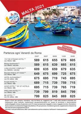 Offerte MALTA estate 2021
