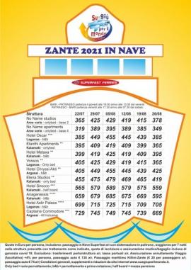 offerta Zante in nave estate 2021